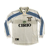 2000 2001 Retro de manga larga Lazio Soccer Jerseys 10 Crespo 9 Salas 11 Mihajlovic 21 Inzaghi Maglia Da Calcio Vintage Camisetas de fútbol Italia