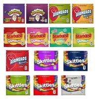 Ogivas Bag airheads Xtremes Starburst Skittles do arco-íris Bolsas Mylar vazios Embalagem 400mg 408 mg mais novo pacote Zipper