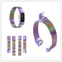 Manyetik Milanese Döngü hızlı Bant İçin Fitbit Şarj 2 Akıllı Bilezik Paslanmaz Çelik Kayış İçin Şarj 2 Bant mix renk dhl akıllı kol bantları