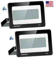 Outdoor Solar LED Flood Lights 300W 200W 100W 50W 30W 100-110LM Lampen Waterdichte IP65 Lighting FloodLight + Stock In US
