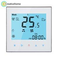 Controladores Remotos Control Wi-Fi Semanal Programação Fan Coil Room Thermostat AC 110-240V 2A Smart Central Ar condicionado Controle de Temperatura
