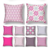 Happy Valentine's Day Pillowcase 45*45cm Cushion Pillow Cover Pink Series Love You Decoration for Home Decor Pillow Case 18*18inch 9970