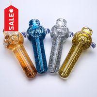 Glas Handrohr mit Flüssigkeit Glycerin Weihnachtsminipfeifen Rauchzubehör Corlorful Löffel Portable zu Nehmen