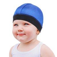 Çocuk Hip Hop durags 1pcs için Unisex Yaz Saten Nefes Turban Şapka