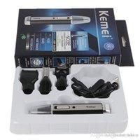 Kemei KM - 6630 4 em 1 Nose Nariz Cabelo Beard sobrancelha recarregável aparador elétrico Trimmer Ear Shaver cabelo Cliper Atacado