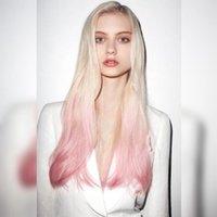 Nuevos peinados calientes en Europa y América, blanqueo transfronteriza y teñido, pelucas, cascos graduales sintética