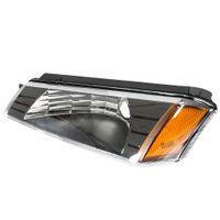 Winsun 4PCS 전면 왼쪽 오른쪽 자동차 헤드 라이트 범퍼 신호 램프 시보레 눈사태 1500 2500 2002년부터 2006년까지 검정 하우징과 투명 렌즈에 대한