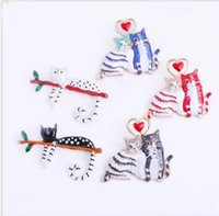 Broche de gato animal Pet Pin Hat Badges Acessório