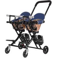 Twin Baby Stroller Multifunción Bebé caminando ligero plegable Cochecito de niño 6 meses -6 años
