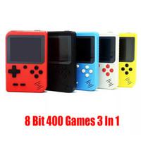Nouveaux portatif Console de jeux vidéo rétro 8 Bit Mini-jeu joueurs 400 FC Jeux 3 En Plus 1 AV TV-Out Pocket Gameboy LCD couleur