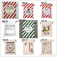 قماش عيد الميلاد سانتس حقيبة كبيرة الحلوى الرباط أكياس بابا نويل حقيبة عيد الميلاد سانتا الحقائب حقائب هدية للديكور عيد الميلاد LJJA1273