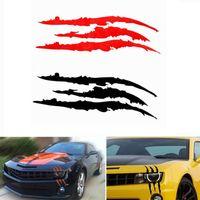 ملصقات السيارات مع علامات مخلب شخصية نمط عاكس، ليلة القيادة السلامة ملصقات السيارات العاكسة مناسبة للمصابيح الأمامية للسيارة