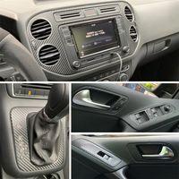 Carbon Fiber Car-Styling 3D / 5D Car Interior Center Console cambiamento di colore del Moulding decalcomanie Per Volkswagen Tiguan 2010-2017
