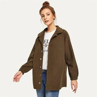 Ladies Turnover Collar Loose Fit Coat Women Autumn Jackets 2020 Casual Suits Coat Office Attire Fashion Blouse Y061
