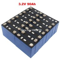 16PCS Lot 3.2V 90Ah LiFePO4 Prismatic Cell Max 2C 180A Discharge For EV Battery Pack With BUS BARS