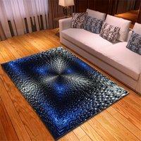 거실 미끄럼 방지 주방 복도 깔개 어린이 방 침대 옆 플레이 매트 다채로운 그라데이션 기하학적 패턴 러그 카펫