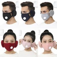 2 1'de Yüz Kış Ağız-Kül Kış kulaklığı 6 Stiller X647FZ Kapak ile Peluş Kulak Koruyucu PM2.5 Kalın Ağız Maskeleri Isınma Maskesi