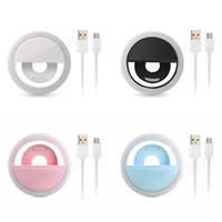 Anello di luce LED ricaricabile Auto Flash di bellezza Mini riempimento Night Light Clip per Smartphone Cellulare Lens