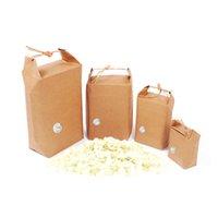 100pcs emballage emballage / thé papier de riz sacs en papier carton / mariages de stockage des aliments papier kraft permanent Sac d'emballage