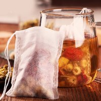 Teabags 5.5 x 7CM food grade Empty Scented Infuser With String Heal Seal Filter Paper for Herb Loose Tea home supplies