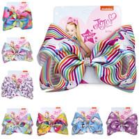 8 pouces Bow épingle à cheveux pour enfants Cartoon Barrettes Jojo Siwa bowknot Glitter Barrettes bébé Enfants Accessoires cheveux Hairclip Coiffe Cadeaux D82803