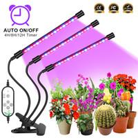 LED crece la luz del USB de la lámpara Phyto Full Spectrum Fitolampy Con control de las plantas de semillero de flores Fitolamp interior crecen Box