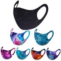 designer face mask Adult fashiion black face masks men women Starry sky flame camo printing masks ear hanging dust masks wholesale