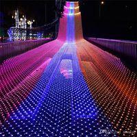 Redes LED LIGHT 8m * 10m 6m * 4m 3m * 2m 2m * 2m 1.5m * 1.5m LED MeshString Littles NET LIGES Fiesta de Navidad Fiesta de la Navidad Lámparas de decoración al aire libre
