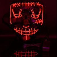 Maschere Maschera di Halloween LED legare di EL DJ Party Light Up Glow In Dark Film Festival del partito di Cosplay Payday JK2009PH