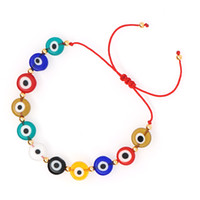 سوار للنساء البوهيمي التركية الجديدة الشر أساور مجوهرات العين قابل للتعديل أساور موهير مودا 2020 الخرز متعدد الألوان