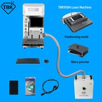 TBK958A 레이저 후면 유리 퓸 추출기 및 iPhone 8g에 대 한 금형으로 설정된 기계 전체 세트 12pro 최대 DIY 로고 조각