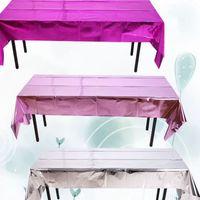 Tabella di alluminio della copertura del panno usa e getta di Natale Halloween Party Evento impermeabile della copertura del panno di tabella 270 * 100 centimetri KKA8063