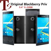 تم تجديد BlackBerry Prive الأصلي 5.4 بوصة HEXA CORE 3GB RAM 32GB ROM 18MP مقفلة 4G LTE الهاتف الذكي