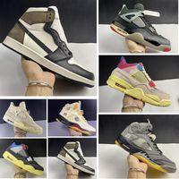 Yeni 1s Yüksek Karanlık Mocha Erkek Basketbol Ayakkabıları 4 S Union Noir SP 5 S Yelken WMNS Kadınlar Bred Sneakers Eğitmenler