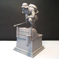 Unainted 1/16 120mm guerreiro biológico com figura histórica base kit de resina frete grátis