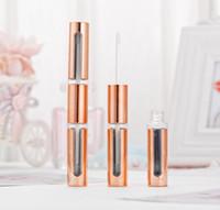 Plastique Double Face Baume à lèvres Tube, 6 ml d'or Lip Gloss Container SN1675