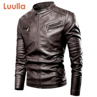 2020 Primavera New Motor Casual Leater Vintage Jacket Men Luulla Homens Marca Outono motociclista Rivet Pockets PU Leather Jacket Brasão Men CX200804