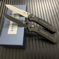 "Benchmade cuchillo BM940 / BM940S Osborne plegable 3.4"" Plano Hoja de Carbono Negro S30V / raso soldadura de mangos de cuchillos Ooudoor BM535"