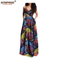 Africano conjunto com 2 peças cortadas topo para as mulheres, saia maxi Dashiki, roupas de ankara, tamanho grande, cera pura, 2020 algodão A722629