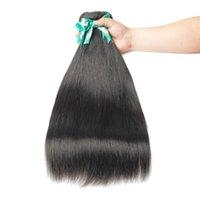 Vendedora caliente de la recta de lotes con el encierro del pelo armadura brasileña paquetes con el encierro del pelo humano de lotes 24 26 28 30 pulgadas de pelo