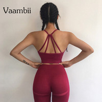 Kadınlar Spor Bra Ve Sorunsuz Gym Tayt İçin 2 Adet Kıyafet Yoga Spor Egzersiz Seti Artı boyutu Giyim Aktif Spor Takımları Womens