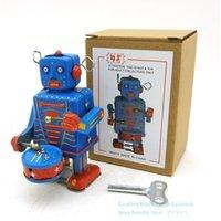 NB Tinplate Retro Aufzieh-Roboter, Can Drum Walk, Aufziehspielzeug, Nostalgisch Ornament, für Kinder, Geburtstag, Weihnachten Boy Geschenk, Collect, MS514, USEU