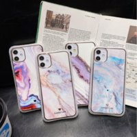Marble Fall iPhone 11 Pro Max SE X XR XS Max iPhone 6 6S Plus 7 8 Plus Korean Glossy Soft-Silikon-Gehäuse