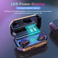 M12 TWS TOCK LED LIGHT WINESS BLUETOOTH 5.0 Auriculares estéreo Auriculares Deportes Auriculares Auriculares Auriculares Bluetooth