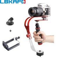 المثبتات lbkafa المهنية المحمولة gimbal استقرار الفيديو ل dslr slr الكاميرا الرقمية الرياضة dv مع الهاتف الخليوي سبائك الألومنيوم