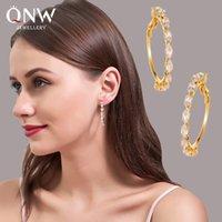 Nuovo Corea del multistrato zircone intarsiato cerchio 2020 Donne dell'orecchino dell'orecchio anello rotondo di colore dell'oro Orecchino ornamenti dell'orecchio per le ragazze che viaggiano