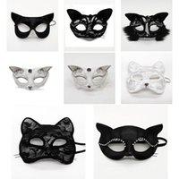 этап Хэллоуин косплей Половина реквизита производительности маски кружева сексуальная женщина животное кошка лицо маски рождественские маски партии Dropshipping F2001