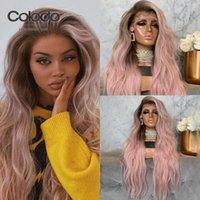 Perruques en dentelle Colodo 150% Ash Blonde Front Cheveux Humains Remy Peruvien Body Wave Perruque Lâche Rose Preplucked Plein Pour Femmes