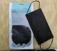 в наличии 10шт розничной упаковки Mouth Маска одноразовая черный лица Маски Нетканые маска Anti-Dust Mask 3 слоя активированного углерода защитный