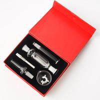 Kit de colector de néctar de 10 mm Kit de acero inoxidable Tip con punta Paja Mini Nector Kit de colector DAB Rigs Glass Bongs Envío gratis